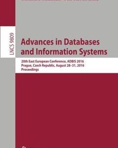 368 грн.| Advances in Databases and Information Systems: 20th East European Conference