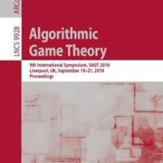 368 грн.| Algorithmic Game Theory: 9th International Symposium