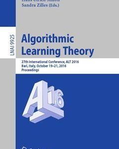 Algorithmic Learning Theory: 27th International Conference
