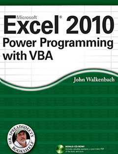 966 грн.| Excel 2010 Power Programming with VBA
