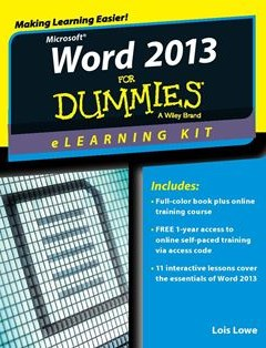 368 грн.| Word 2013 eLearning Kit For Dummies (For Dummies 1st Edition