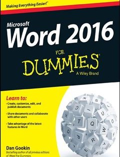 368 грн.| Word 2016 For Dummies 1st Edition